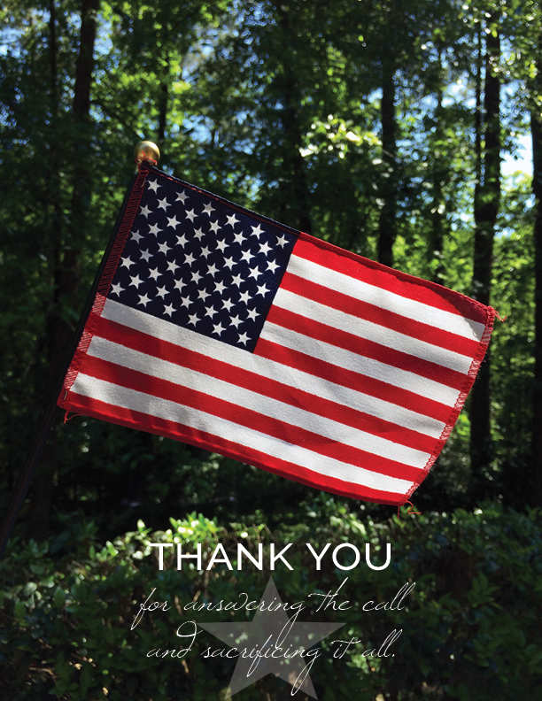 memorial day flag thanking veterans