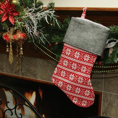 Festive-Poinsettia-Snowflake-Motif-Sweater-Knit-Christmas-Stocking