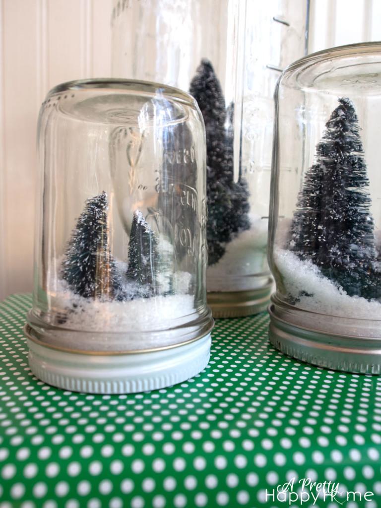 faux snow globe with mason jar easy diy christmas decor ideas