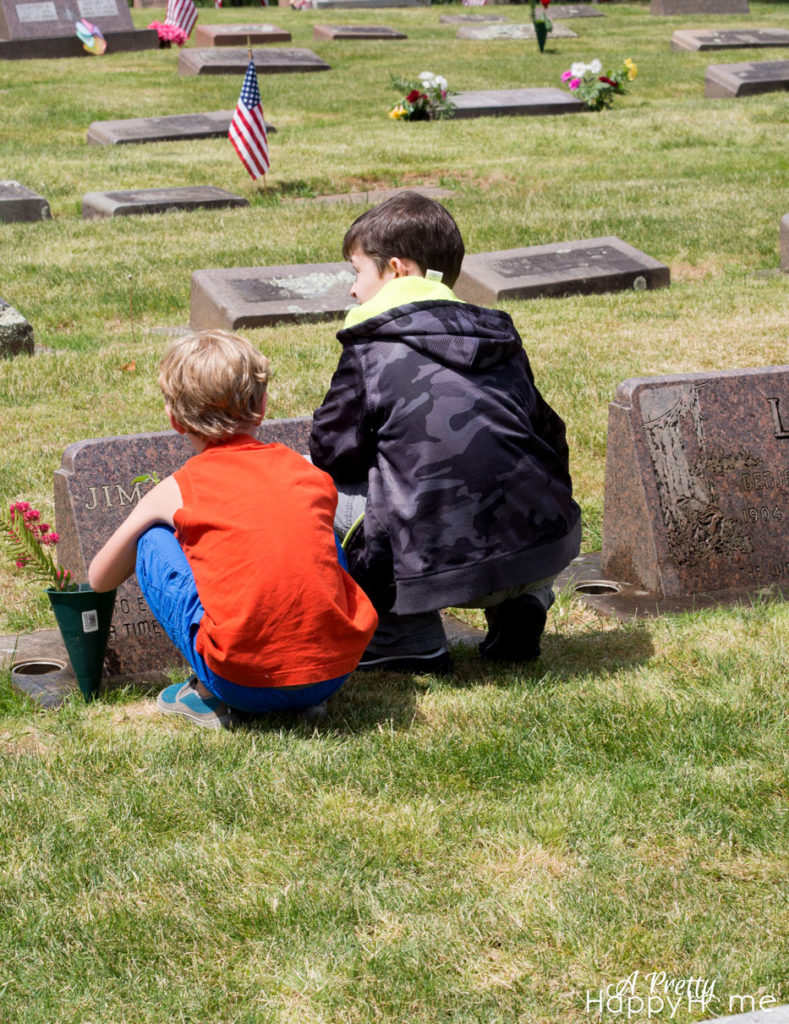 cleaning headstones for memorial day tradition