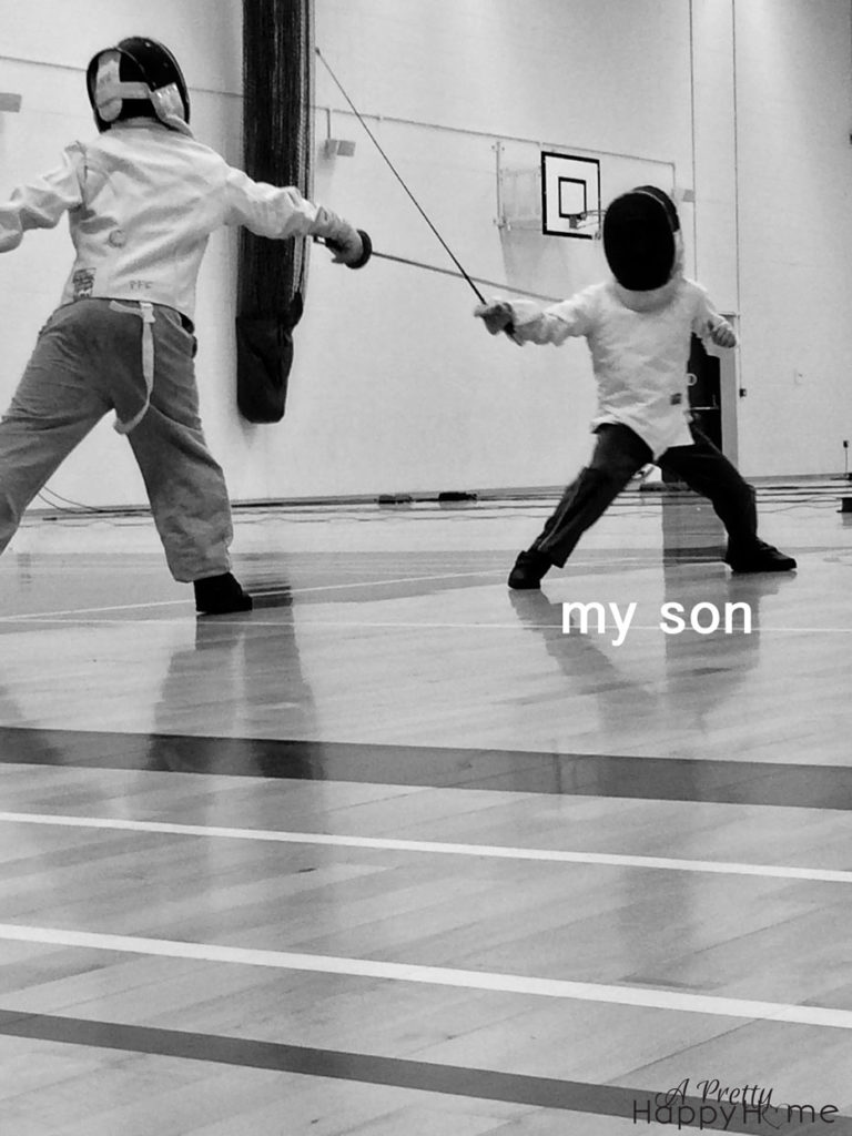 boy fencing humor break