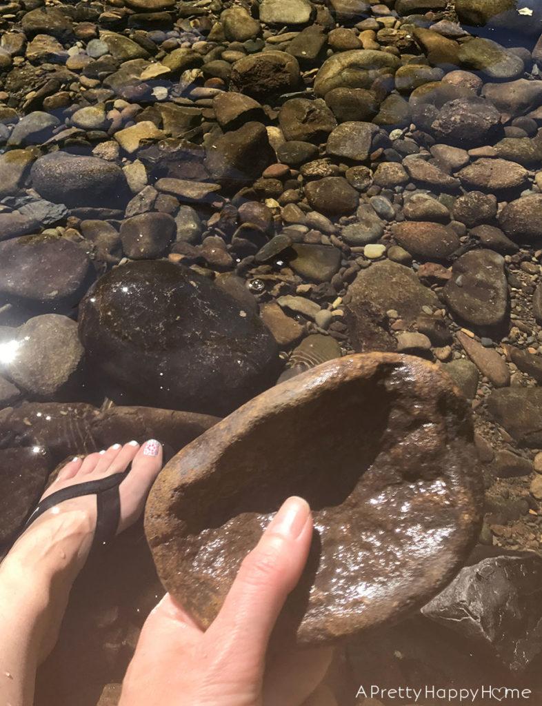 finding natural rock soap dish