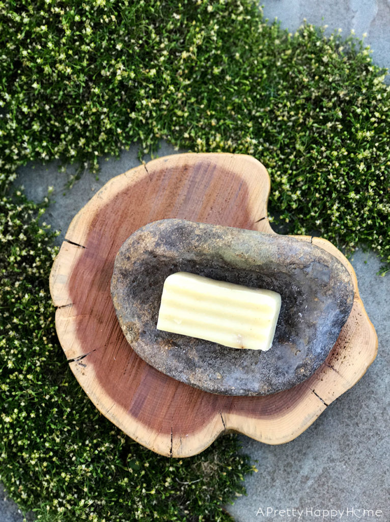 natural rock soap dish found in creek