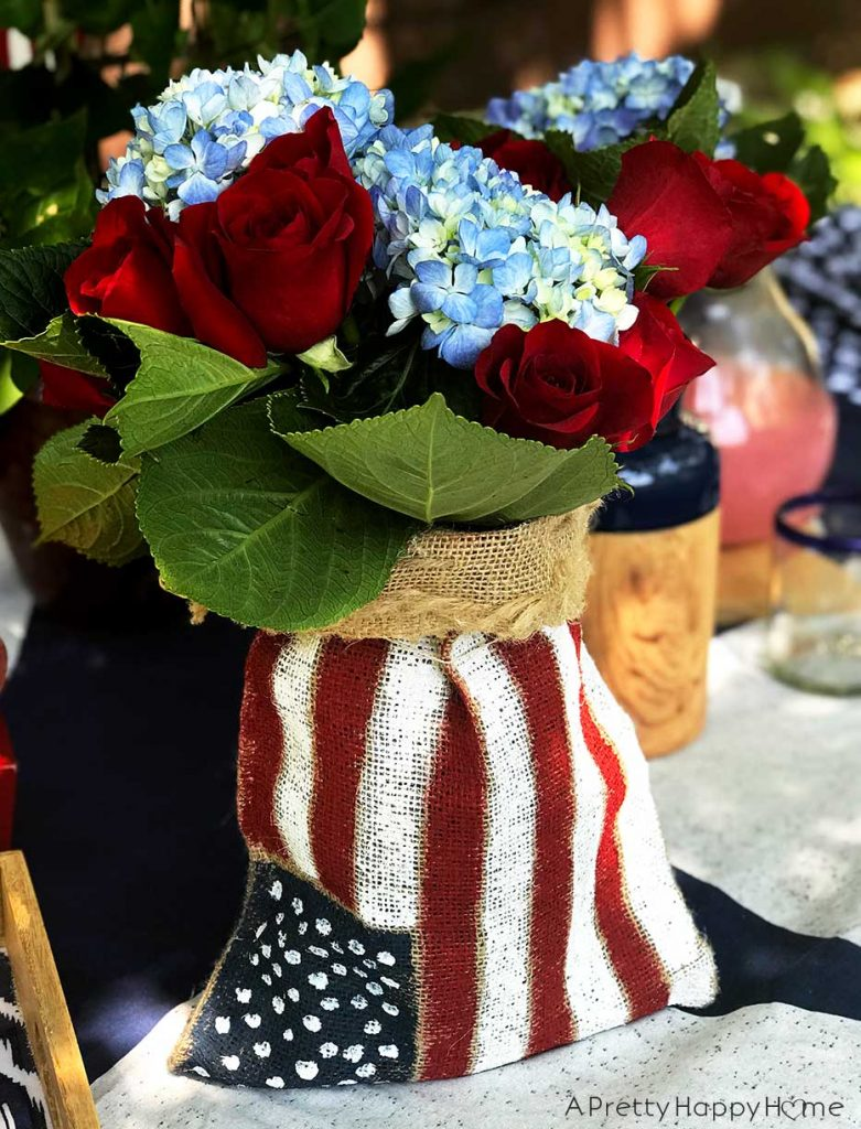 burlap american flag centerpiece 3 Projects to Try While I Take a Blog Break