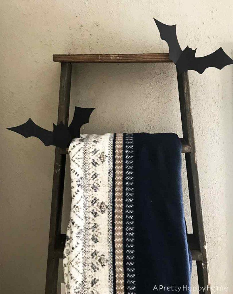 black card stock bat ladder found decor