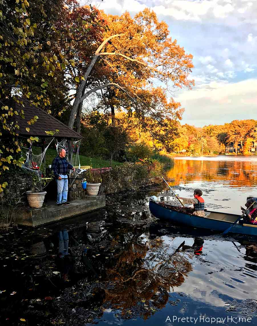 New Way to Trick or Treat - Dock or Treat by canoe