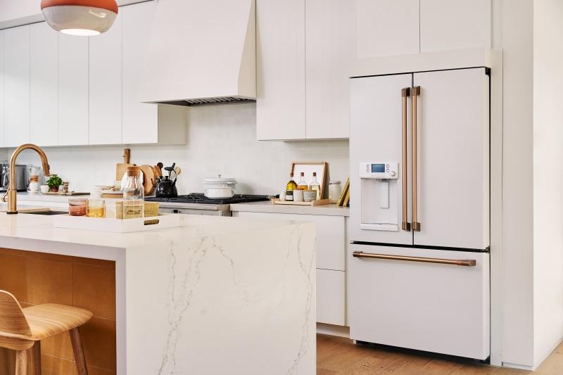 white appliance via domino
