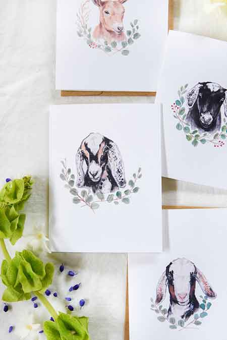 free goat prints by boxwood avenue
