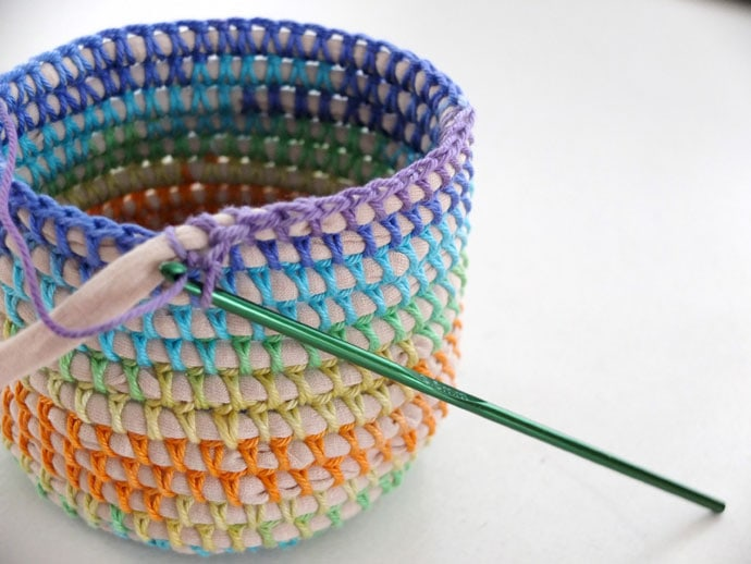 coil and crochet basket by my poppet