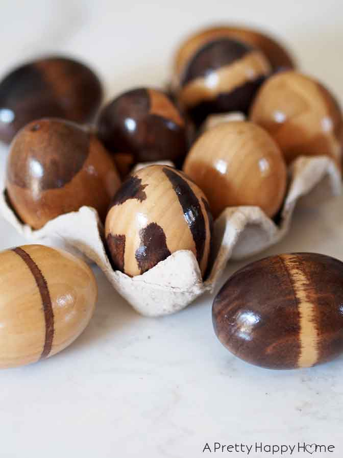 DIY Stained Wooden Easter Eggs