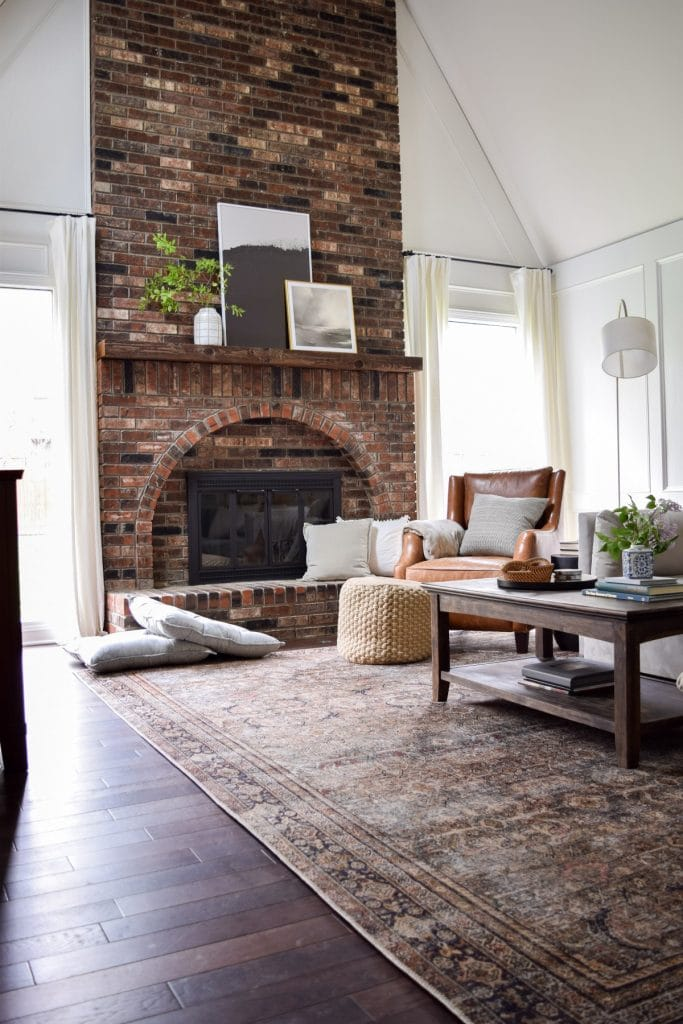 brick fireplace the adored abode