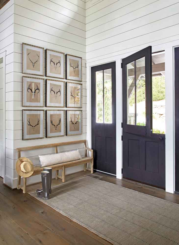 black dutch door Atlanta Homes Magazine