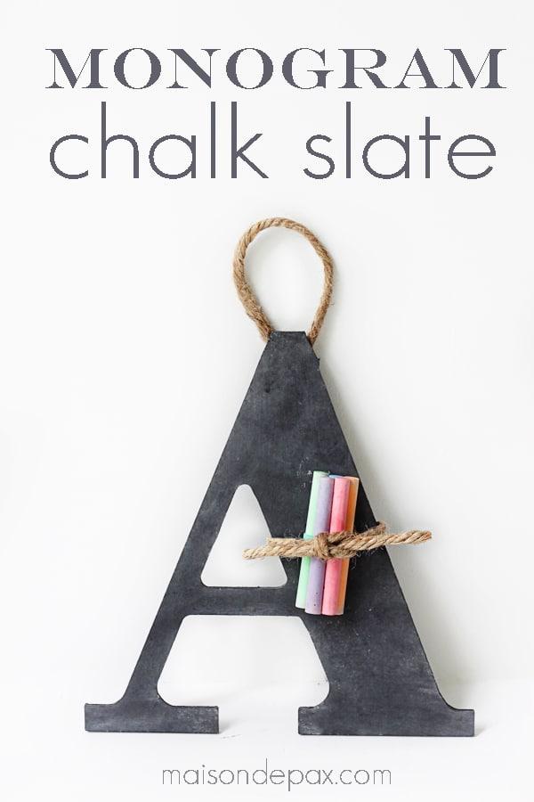 chalkboard letters sign via maison de pax