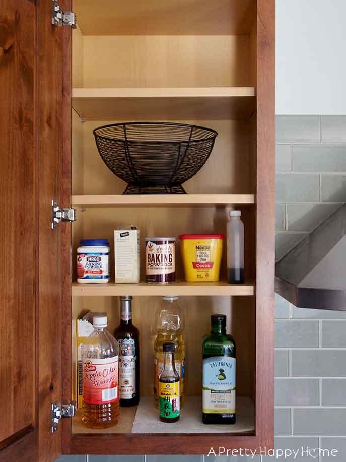 kitchen cabinet and drawer organization