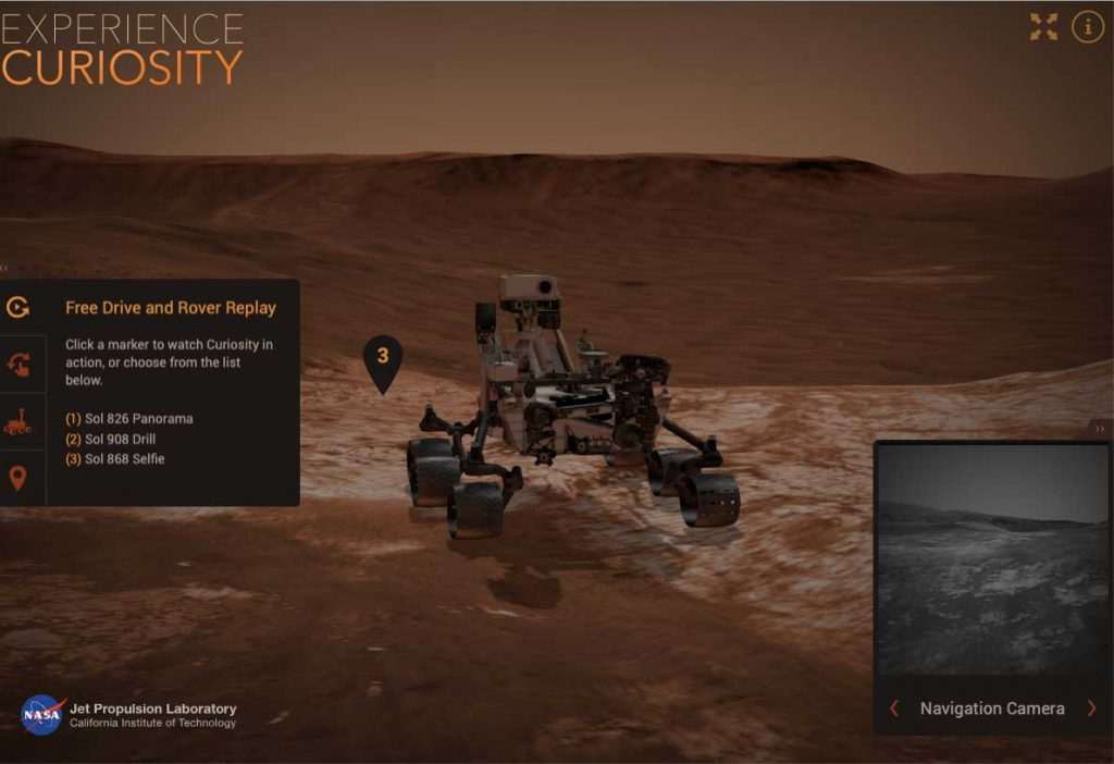 curiosity rover on nasa website games for kids