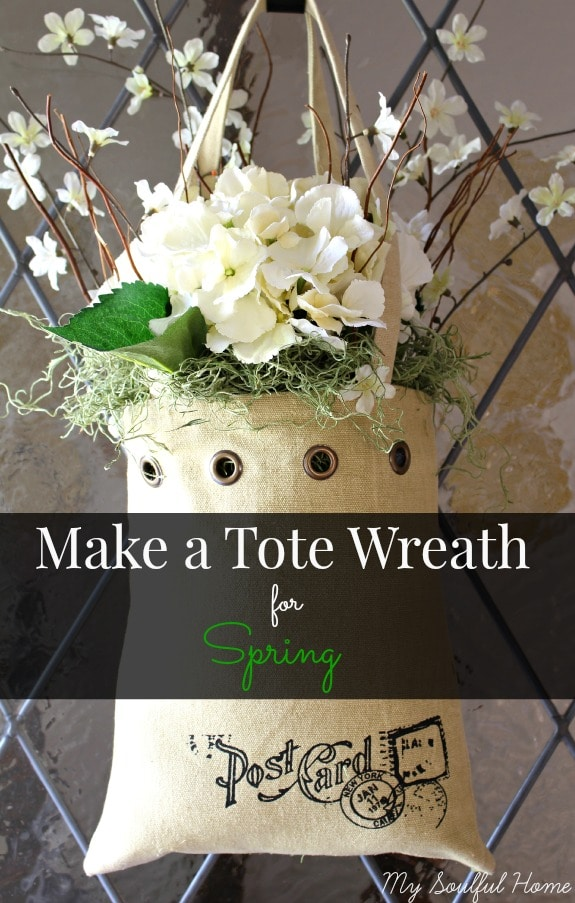 tote bag wreath from my soulful home