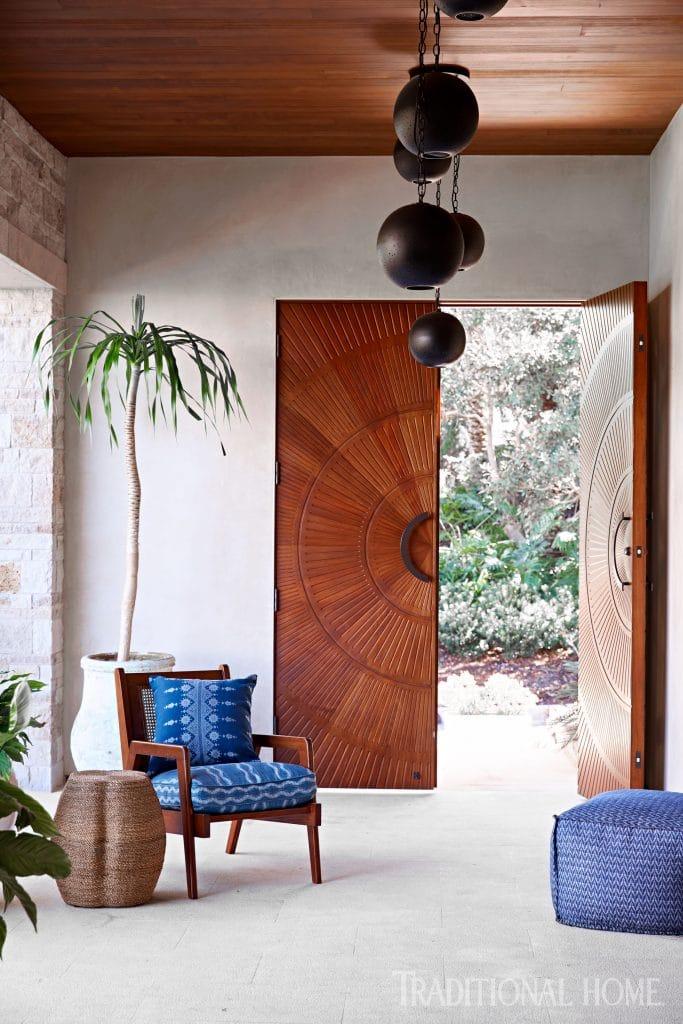 carved mahogany door