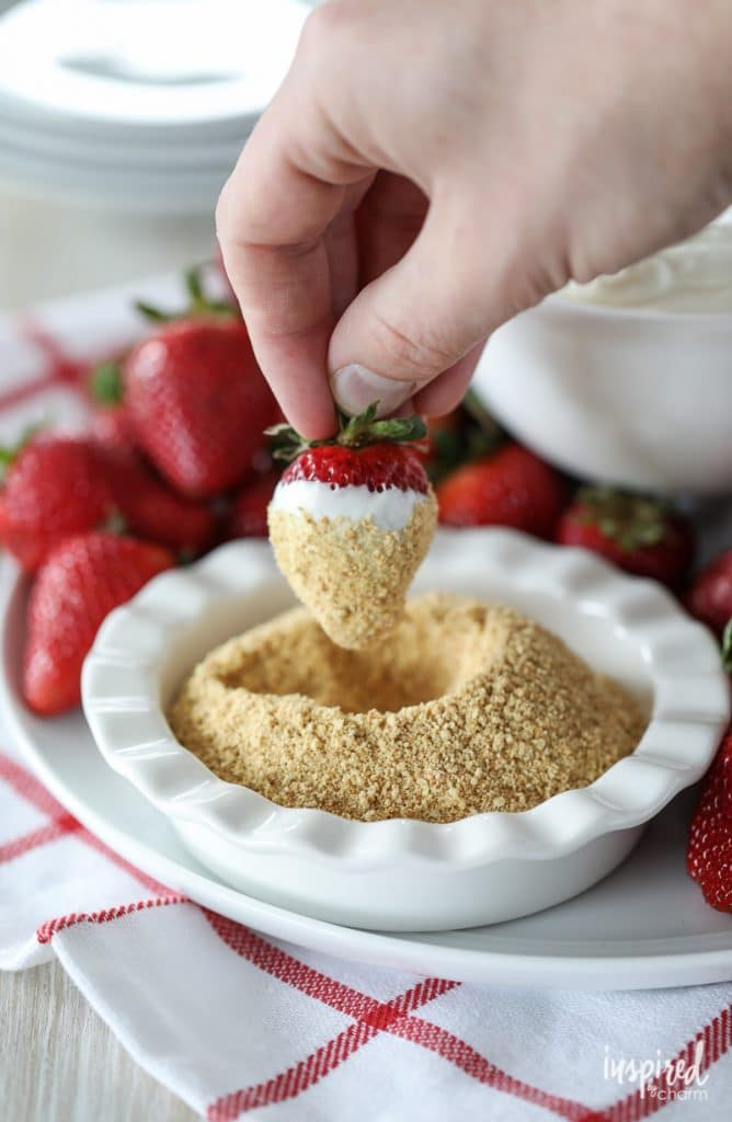 cheesecake dip from inspired by charm happy list