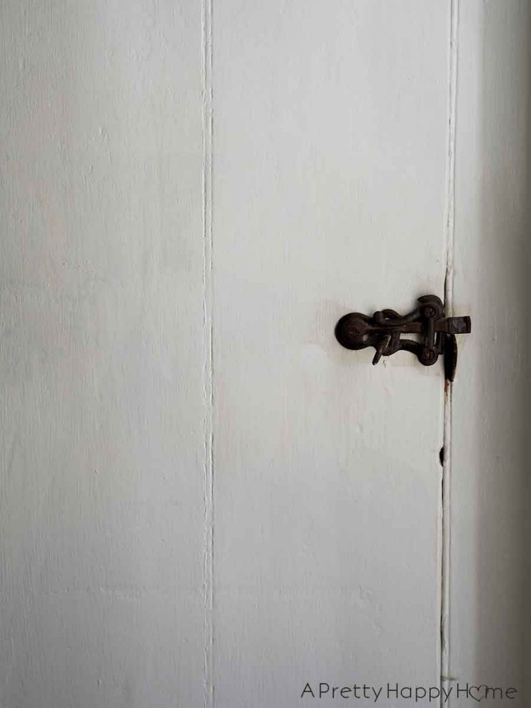 The Doors of Our Colonial Farmhouse vintage door latch
