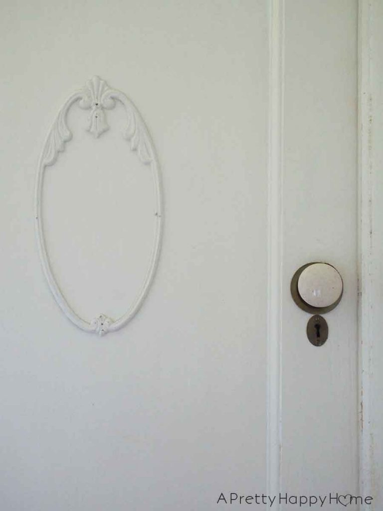 The Doors of Our Colonial Farmhouse white door knob
