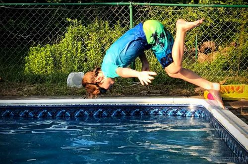 flip into pool