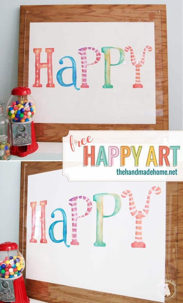 free happy print from the handmade home