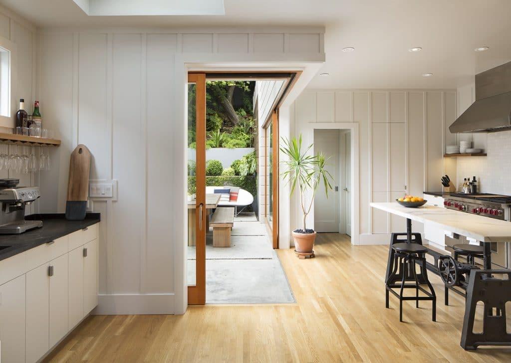 sliding corner glass door via remodelista on the happy list