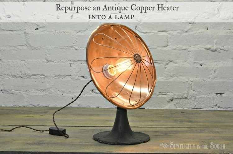 copper heater lamp by simplicity in the south on the happy list