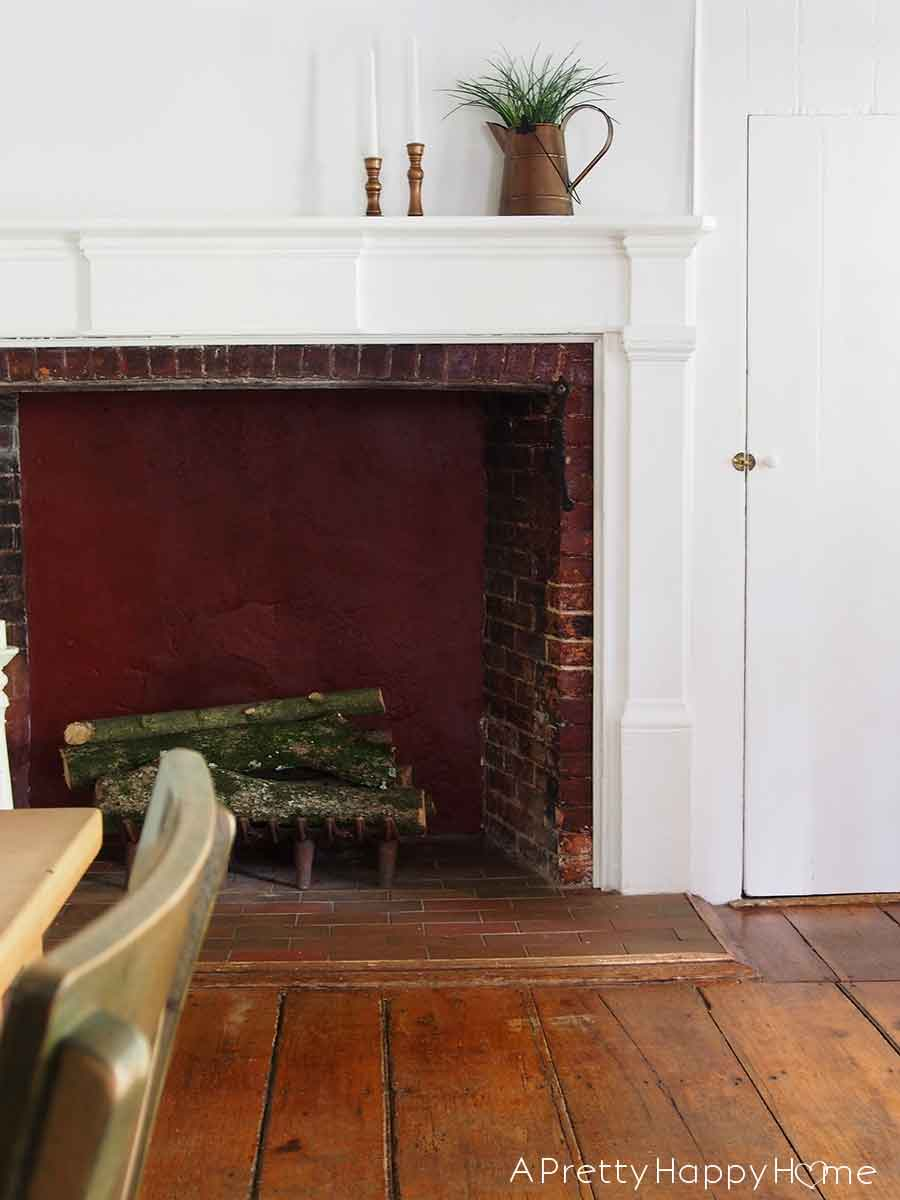 colonial farmhouse dining room fireplace Searching for Hidden Treasure in Our Home