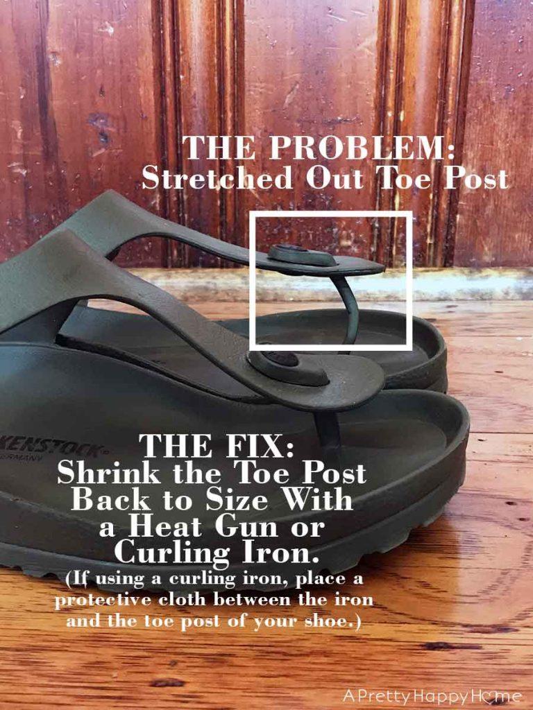 plastic birkenstock repair hack