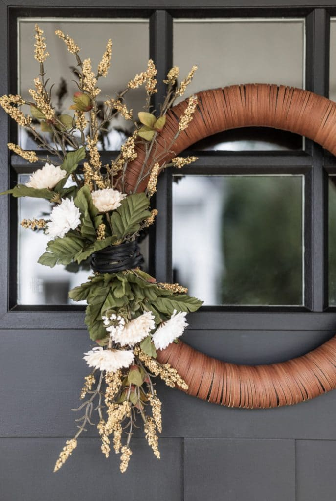 fall leather wreath by cherished bliss on the happy list