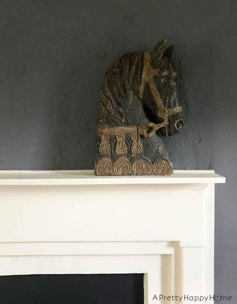 The Best Flea Market Score carved wooden horse head