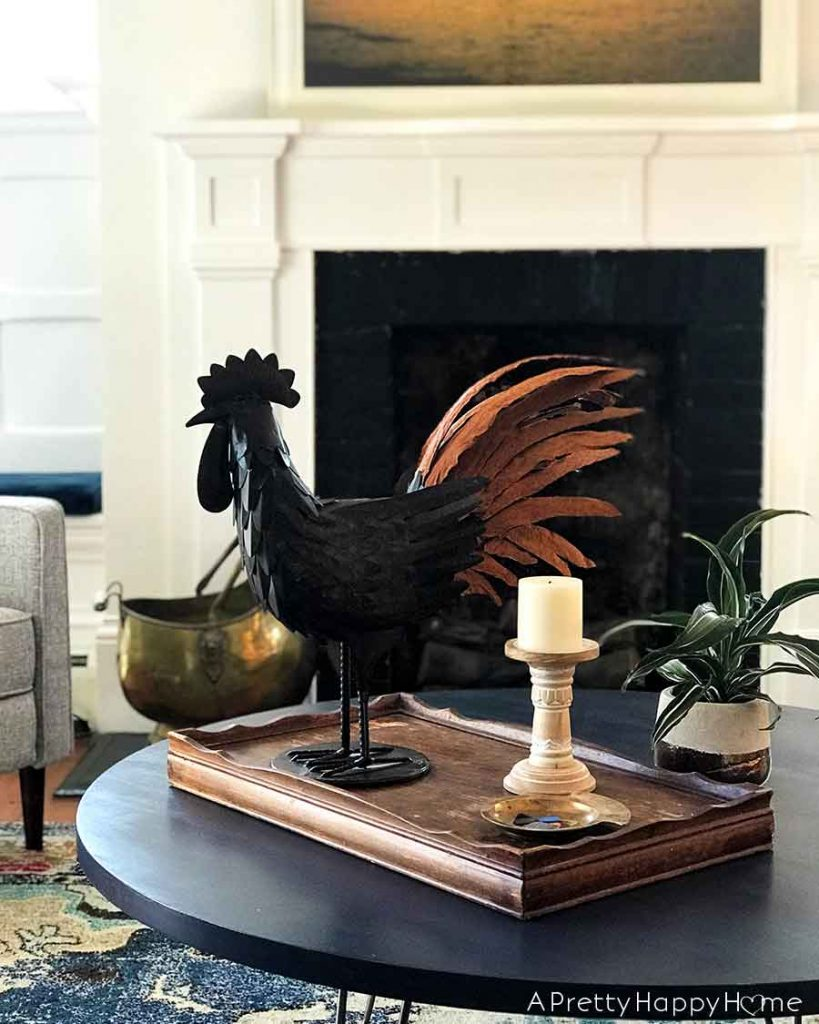 Metal and Leather Rooster