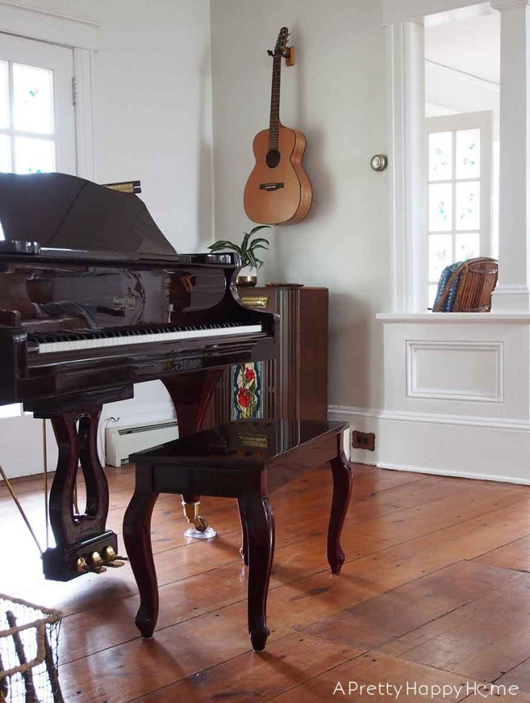 colonial farmhouse music room before and after 6 month progress