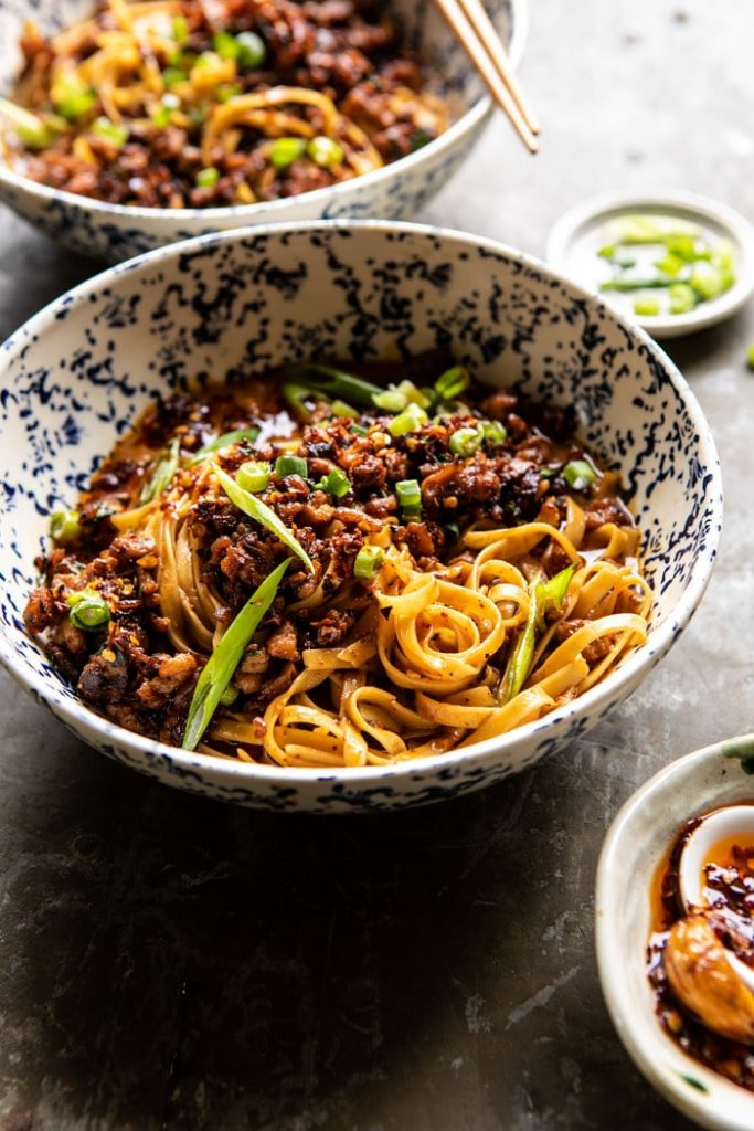dan dan noodles by half baked harvest on the happy list