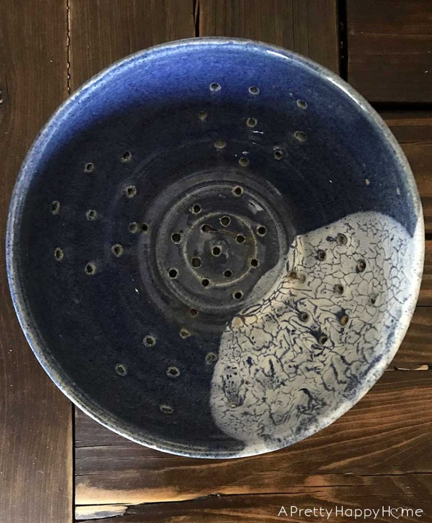 in praise of the ceramic colander