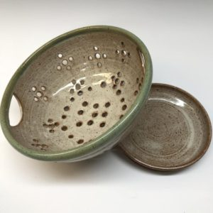 ceramic colander berry bowl etsy