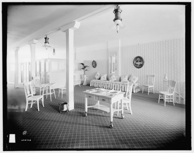 couches in women's restroom via library of congress on the happy list