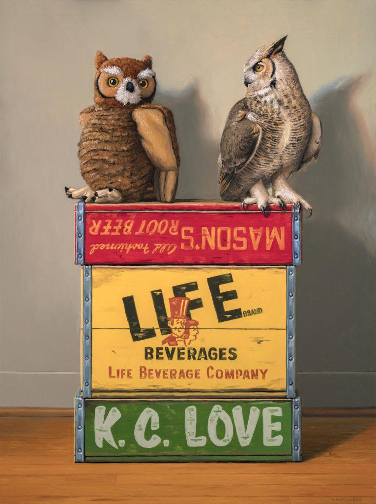 still life crate painting robert c jackson via creative boom on the happy list