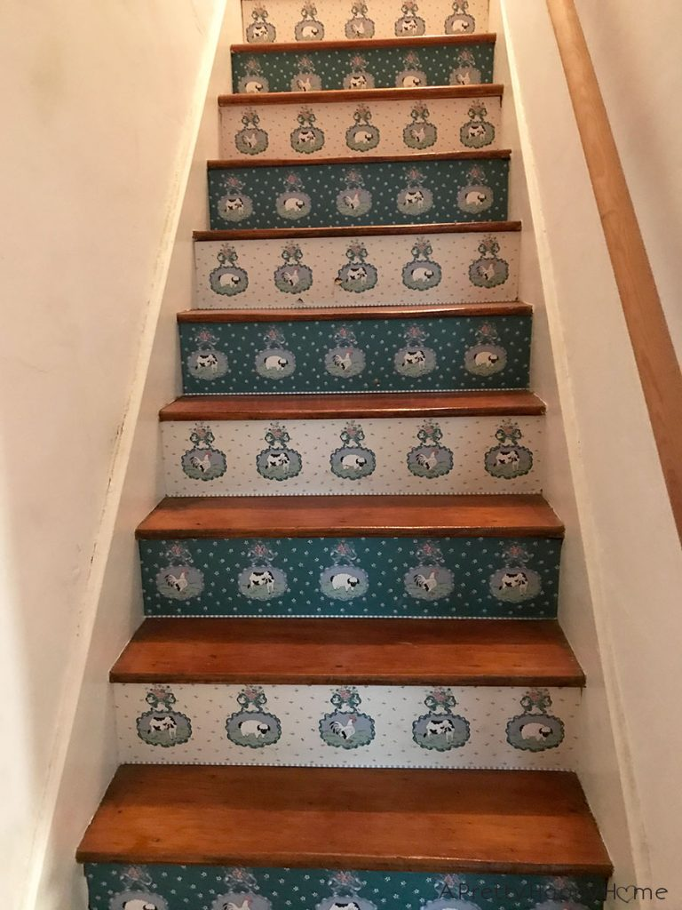 back staircase kitchen stairs before and after