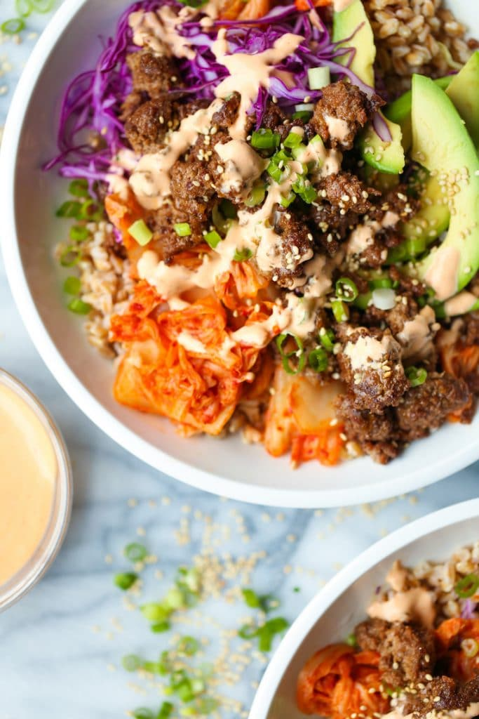 korean beef power bowl damn delicious on the happy list