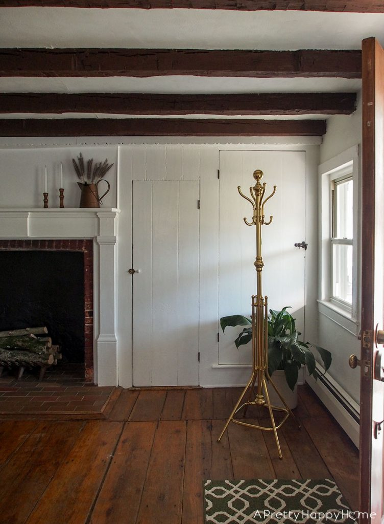 The Case of the Closet Mystery colonial farmhouse