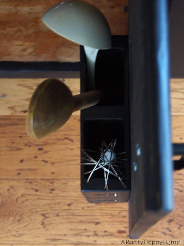 DIY Cabinet Door Utensil Caddy