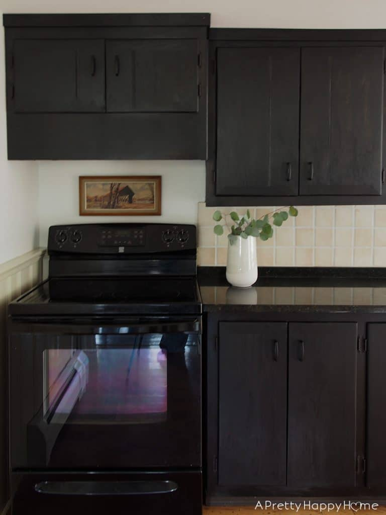 colonial farmhouse kitchen black cabinets on the happy list