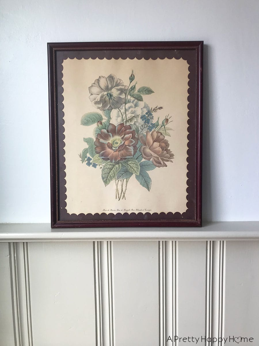 thrift store find flower print with scalloped edge