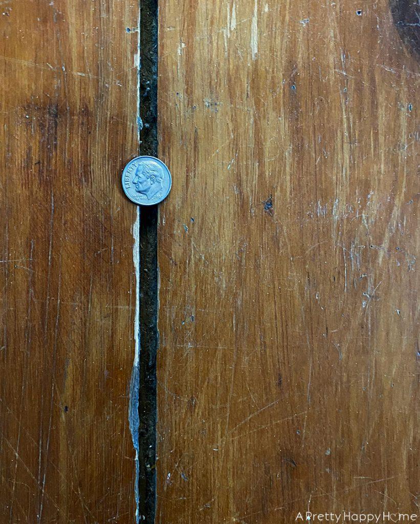 shellac on old floors gap in original pumpkin pine wood floors