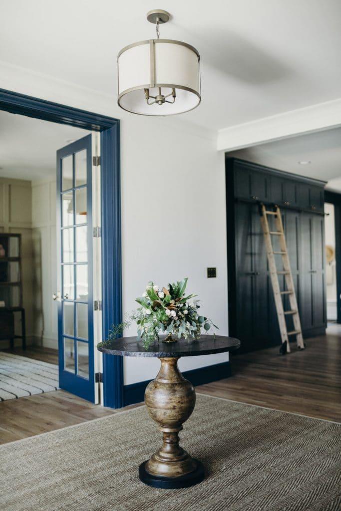 dark blue trim home tour forge bow via rue magazine on the happy list