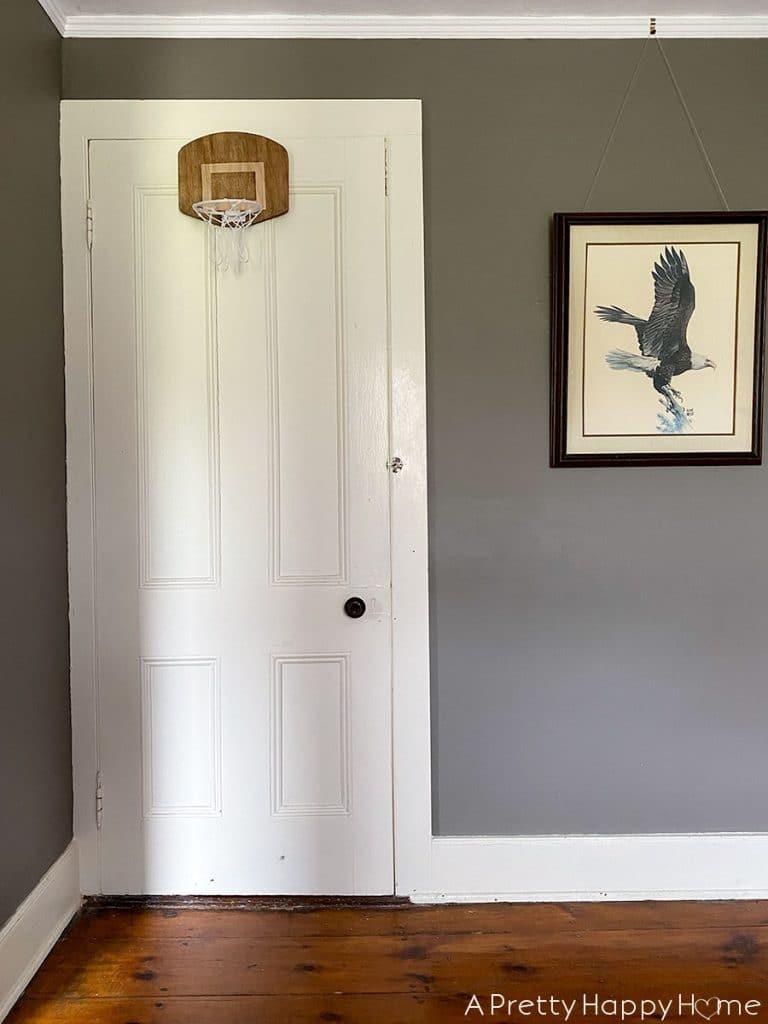 black painted doors before