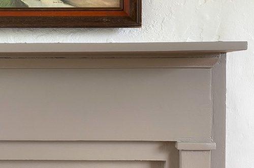 Grey Fireplace Mantel