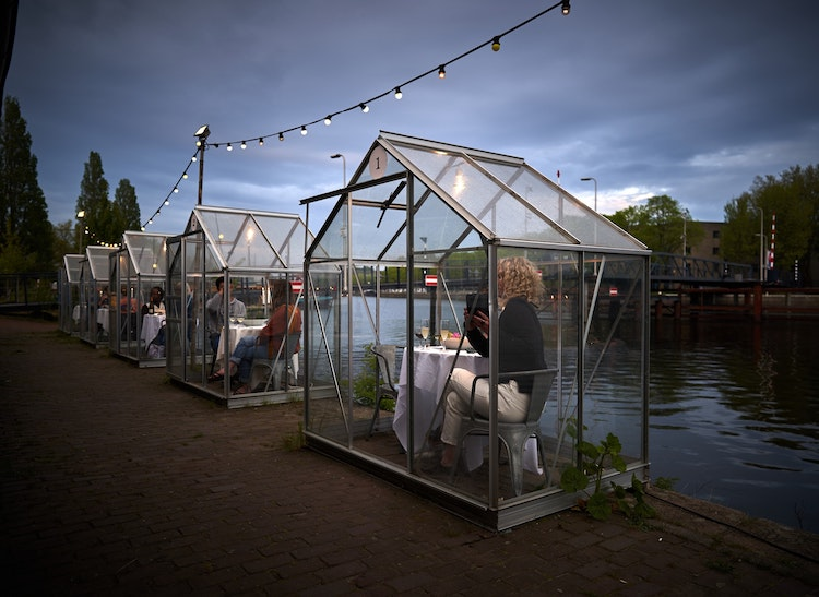 greenhouse dining mediamatic via my modern met on the happy list